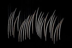 Papel hecho a mano de ábaca y de maíz 94 x 150 x 1.5 cm. 2016